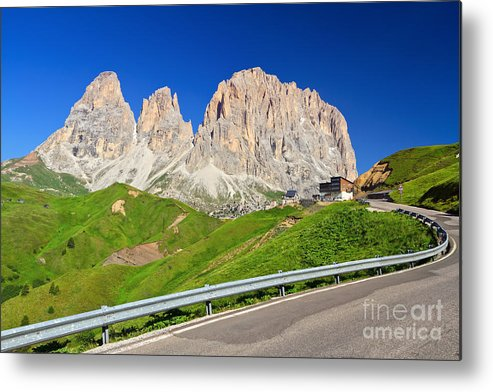 Road Metal Print featuring the photograph Dolomiti - Sella Pass by Antonio Scarpi