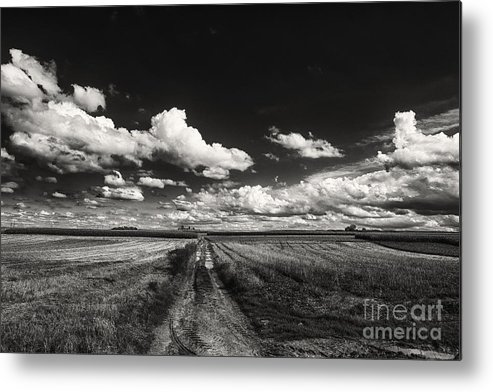 Blue Skies Landscape Metal Print featuring the photograph Drifting Clouds by Brothers Beerens
