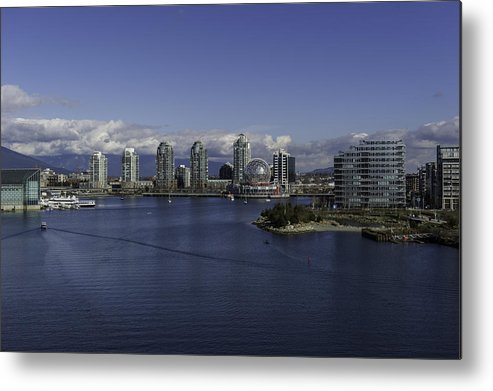Highrise Metal Print featuring the photograph False Creek by Frank Pali