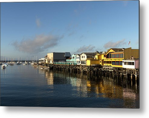 Fisherman's Metal Print featuring the photograph Fishermans Wharf In Monterey Bay by Carol M Highsmith