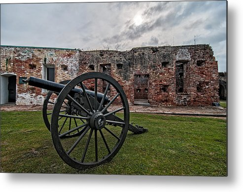 1800s Metal Print featuring the photograph Fort Pike Cannon by Andy Crawford