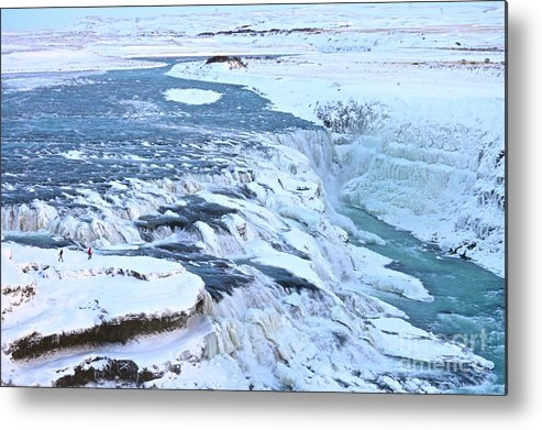 Landscape Metal Print featuring the photograph Gullfoss Waterfall Iceland by Eric Reger