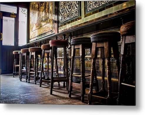 Barstools Metal Print featuring the photograph Have A Seat by Heather Applegate