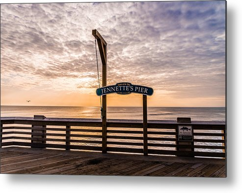 Jeanette's Pier Metal Print featuring the photograph Jeanette's Pier by Stacy Abbott