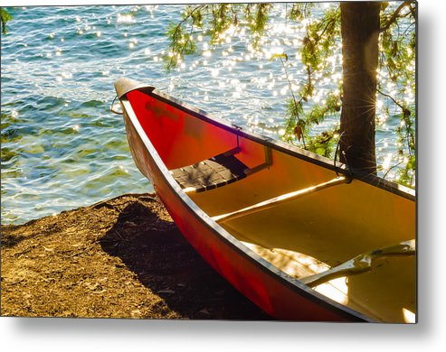 Activity Metal Print featuring the photograph Kayak By The Water by Alex Grichenko