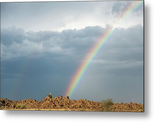Africa Metal Print featuring the photograph Keetmanshoop, Namibia, Africa - Rainbow by Edwin Remsberg