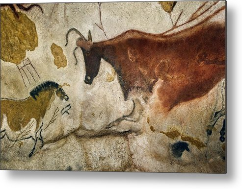 Cave Painting Metal Print featuring the photograph Lascaux II Cave Painting Replica by Science Photo Library