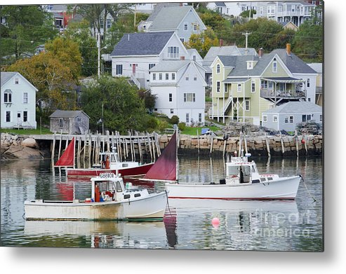 Boat Metal Print featuring the photograph Lobster Fishing Boats by John Shaw