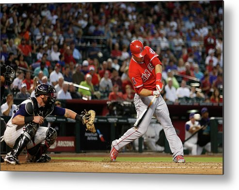 People Metal Print featuring the photograph Los Angeles Angels Of Anaheim V Arizona 1 by Christian Petersen