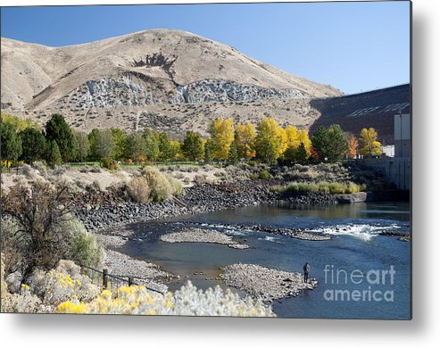 Nightvisions Metal Print featuring the photograph 744p Lucky Peak Dam Sandy Point Id by NightVisions