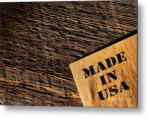 Made In Usa Metal Print featuring the photograph Made In Usa by Olivier Le Queinec