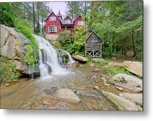 Mill Shoal Falls Metal Print featuring the photograph Mills Shoals Falls  Pigah National Forest Nc by Willie Harper