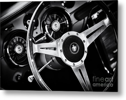 Ford Metal Print featuring the photograph Mustang Interior by Tim Gainey