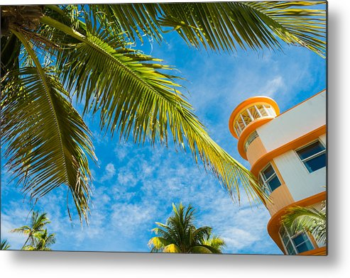 Architecture Metal Print featuring the photograph Ocean Drive by Raul Rodriguez