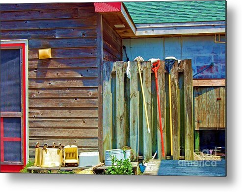 Building Metal Print featuring the photograph Out To Dry by Debbi Granruth