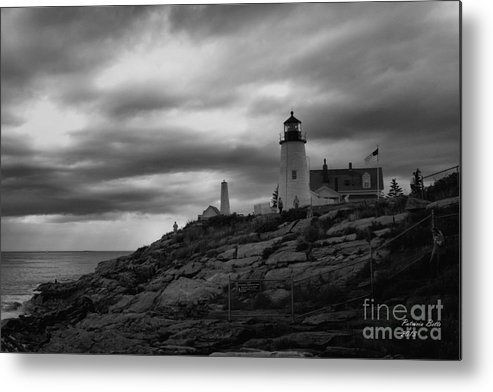 Lighthouse Metal Print featuring the photograph Pemaquid Point Lighthouse by Patricia Betts
