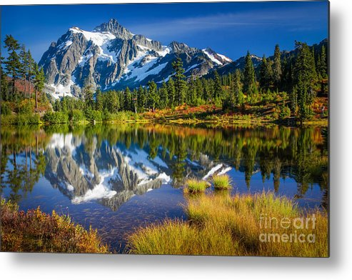 America Metal Print featuring the photograph Picture Lake by Inge Johnsson