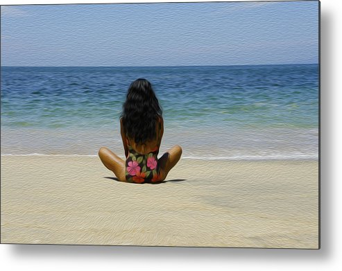 Beach Metal Print featuring the photograph Relaxing by Aged Pixel