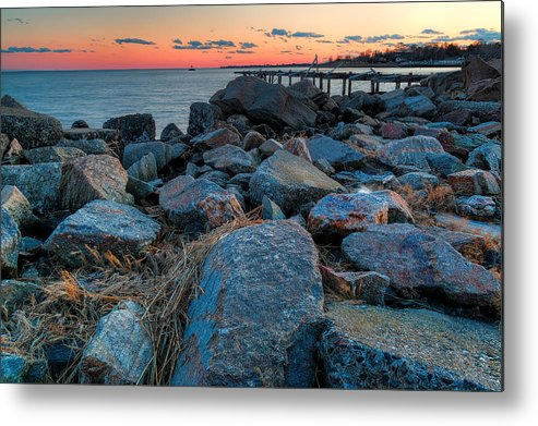 Clouds Metal Print featuring the photograph Rocks by Lechmoore Simms
