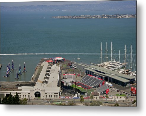 San Francisco Metal Print featuring the photograph San Francisco America's Cup by Steven Lapkin