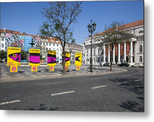 Ancient Metal Print featuring the photograph Sardine Outdoor At Pedro Iv Square Best Known As Rossio Square by Andre Goncalves