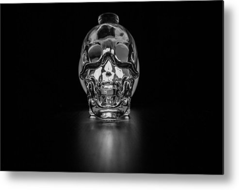 Skull Metal Print featuring the photograph Skull Study by Penelope Murray