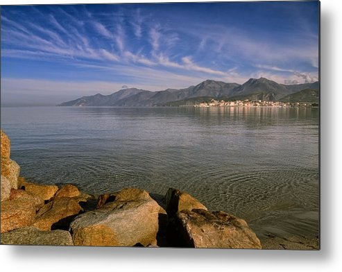 Blue Metal Print featuring the photograph St Florent In Corsica by Jon Ingall
