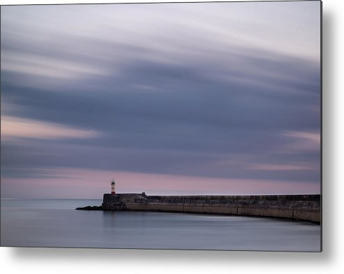 Landscape Metal Print featuring the photograph Stunning Long Exposure Landscape Lighthouse At Sunset With Calm by Matthew Gibson