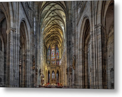Metal Print featuring the photograph St.vitus Cathedral by Max Kotchouro