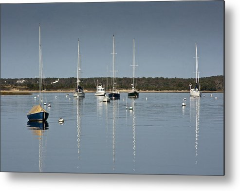 Boat Metal Print featuring the photograph Sunrise At Red Brook Harbor by Dennis Coates