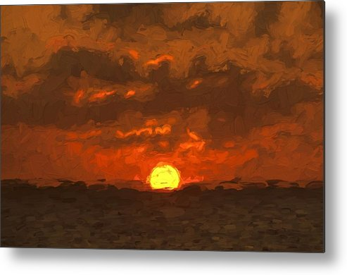 Cayman Islands Metal Print featuring the photograph Sunset by Bill Howard