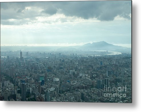 101 Metal Print featuring the photograph Taipei Under Heavy Clouds by Jannis Werner