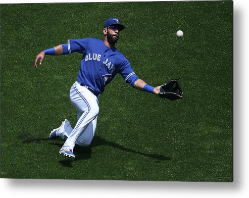 People Metal Print featuring the photograph Tampa Bay Rays V Toronto Blue Jays by Tom Szczerbowski