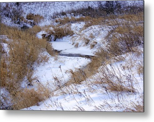 Frost Metal Print featuring the photograph The River Runs by Lori Tordsen