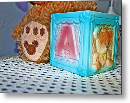 Teddy Bear Metal Print featuring the photograph Toy Box by Izabela Bienko