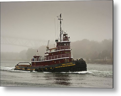 Boat Metal Print featuring the photograph Tug Boat by Dennis Coates