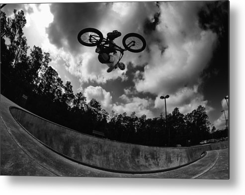 Bmx Metal Print featuring the photograph Upside Down by Mick Logan