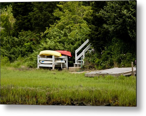 Boats Metal Print featuring the photograph Waiting For Summer by Dennis Coates
