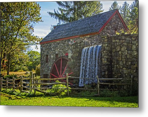 Grist Mill Metal Print featuring the photograph Wayside Inn Grist Mill by Donna Doherty
