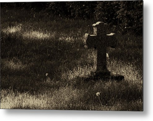 Cross Metal Print featuring the photograph Weathered Angel by Jim Vance