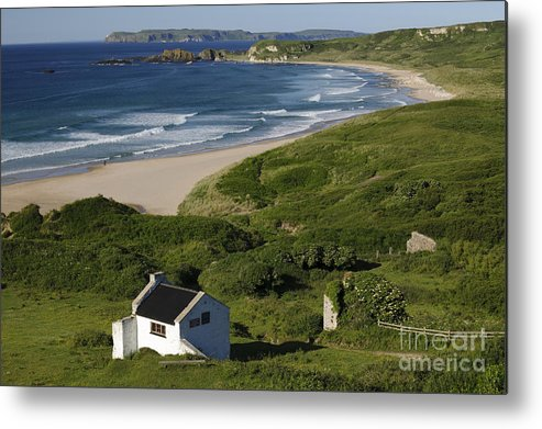 County Antrim Metal Print featuring the photograph White Park Bay, Ireland by John Shaw