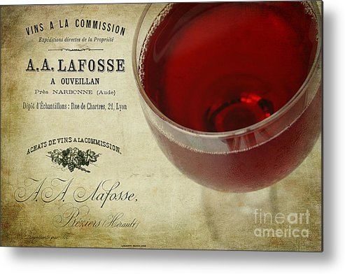 Aged Metal Print featuring the photograph Wine by Darren Fisher