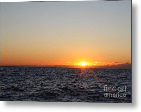 Winter Sunrise Over The Ocean Metal Print featuring the photograph Winter Sunrise Over The Ocean by John Telfer