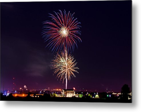 Twin Falls Metal Print featuring the photograph Fireworks by Elijah Weber