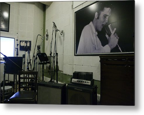 Elvis Presley Metal Print featuring the photograph Sun Studio by Karen Cowled
