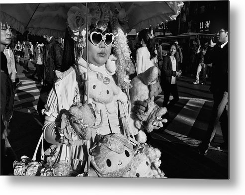 Street Metal Print featuring the photograph Untitled by Tatsuo Suzuki
