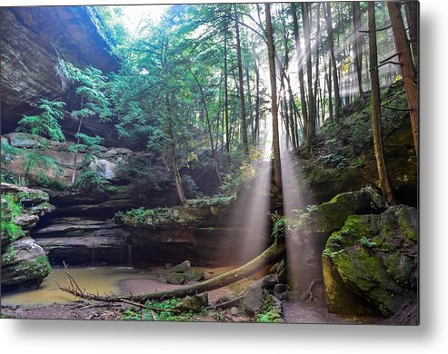 Metal Print featuring the photograph Old Man's Cave by Brian Stevens