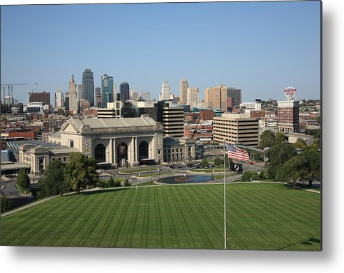 America Metal Print featuring the photograph Kansas City Skyline by Frank Romeo