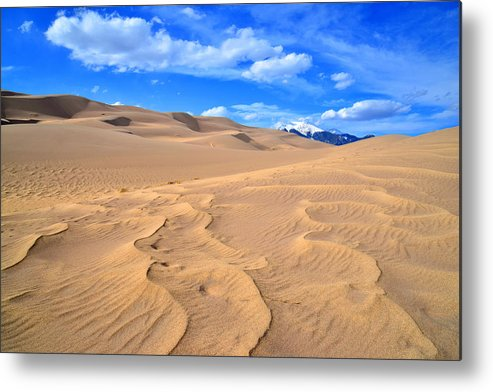 Great Sand Dunes National Park Metal Print featuring the photograph Great Sand Dunes by Ray Mathis