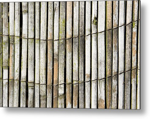 Abstract Metal Print featuring the photograph Wood Background by Tom Gowanlock